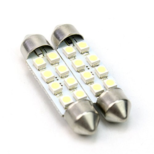 2x 8 LED 5050 SMD 42mm Plaque Blanc Ampoule Lampe Navette Plafonnier Éclairage