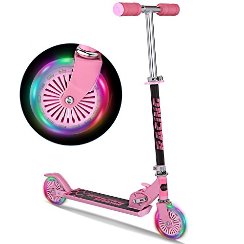 Best Review Of WeSkate B3 Scooter for Kids with LED Light Up Wheels, Adjustable Height Kick Scooters...