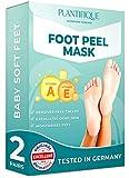 Maschera Piedi Esfoliante - Foot Peel Mask Dermatologicamente Testata, Efficace Peeling Piedi, Scrub Piedi e rimozione Calli dei Piedi - Foot Mask alle vitamine confezione da 2 by Plantifique