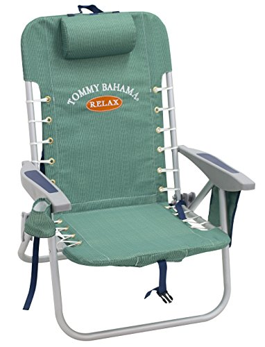 Tommy Bahama ASC529TB-217-1 Lace Up Backpack Beach Chair, 4 Positions, Solid