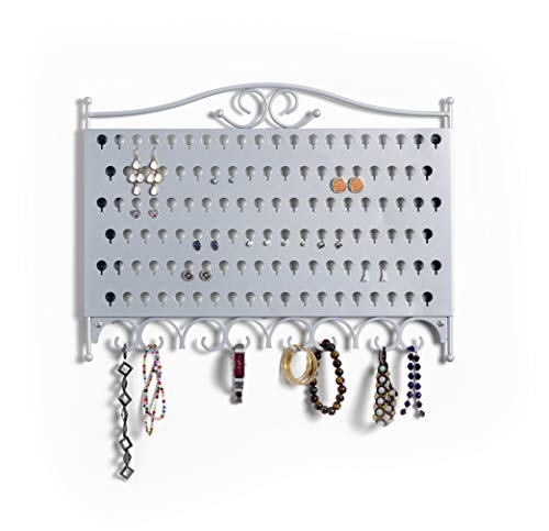 Mango Steam Wand-Schmuck & Ohrring Organizer, (Silber) / (MEHRWEG)