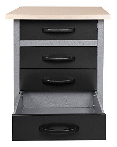 Ondis24 Werkbank Werktisch Werkstatteinrichtung mit 4 Schubladen 60 x 60 cm Arbeitshöhe (85 cm) - 2