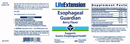 Life Extension Esophageal Guardian, Berry, 60 Count