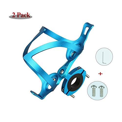 LOOZY Fahrrad Flaschenhalter Fahrrad Trinkflaschenhalter Sicheres Rückhaltesystem,Leichter Und Starker Robuster Aluminium,aluminiumlegierung Mountainbikes, Und Rollstuhl (Color : Blau)
