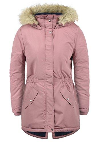 ONLY Paola Damen Jacke Parka Mantel warme Übergangsjacke gefüttert mit Kapuze, Größe:S, Farbe:Nostalgia Rose