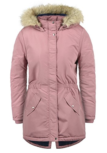 ONLY Paola Damen Jacke Parka Mantel warme Übergangsjacke gefüttert mit Kapuze, Größe:L, Farbe:Nostalgia Rose
