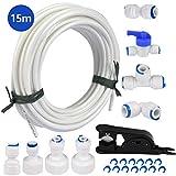 FOCCTS 15 mètres tuyau d'alimentation en eau tube et kit de connecteurs de...