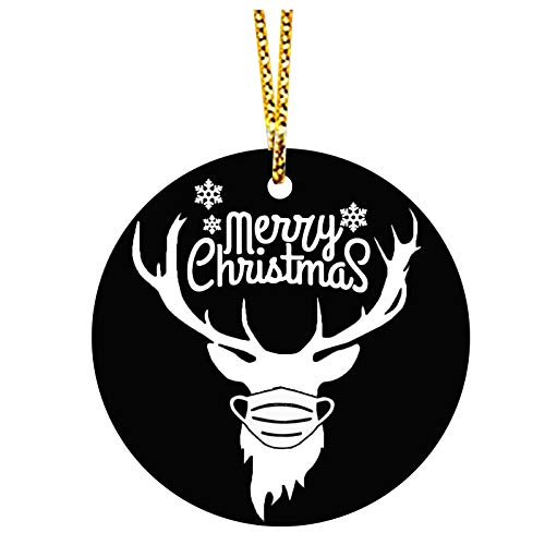 Printasaurus 2020 Christmas Day Home Decoration Creative Wood Chip Pendant Home & Garden Decoration & Hangs