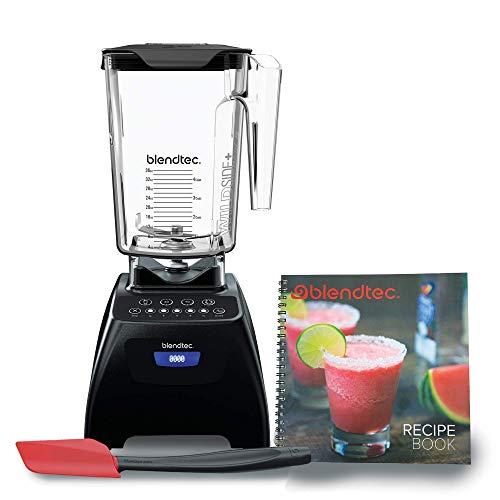 Blendtec C575A2301A-A1AP1D1 Classic 575 Countertop blender, 90 oz, Black/Spoonula/Recipe Book (Renewed)