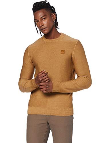 BOSS Mens Anitoba Pullover Sweater, Medium Brown (210), L
