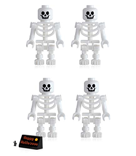 LEGO Pirates of The Caribbean Minifigure - Skeletons (4 Pack) with Side Display