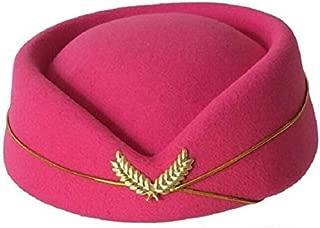 Wool Felt Pillbox Air Hostesses Beret Hat Base Cap Airline Stewardess Sexy Formal Uniform Hat Caps Accessory