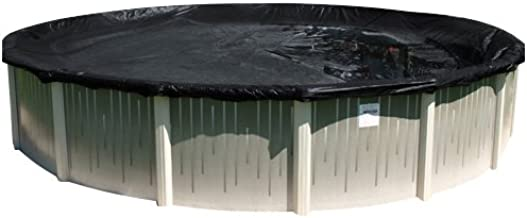 Buffalo Blizzard Micro Mesh Black Winter Cover for 30-Foot Round Above-Ground Swimming Pools   3-Foot Additional Material   Allows Rain or Melted Snow to Pass Through   Leaving Debris Behind