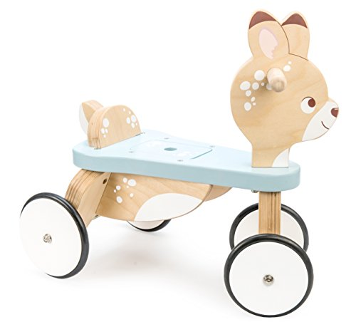 Le Toy Van - Petilou Wooden Ride On Deer Push Along Toy for Toddlers | Suitable for Boy Or Girl 1 Year Old +