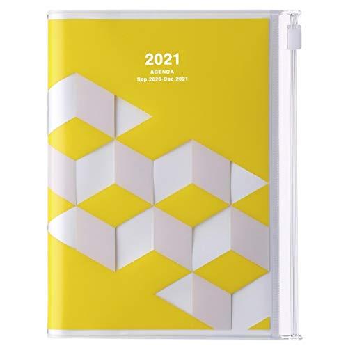 Mark\'s Europe 2020/2021 Taschenkalender A6 vertikal, Geometric Pattern YELLOW