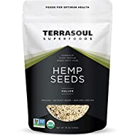 Terrasoul Superfoods Organic Hemp Seeds, 1 Lb - Hulled   Fresh   Protein Rich   Omega Fats