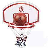 MHCYKJ Ccanasta Baloncesto Interior Casa De para Niños Colgar sobre Puertas Mini Aro Sistema Infantil Tablero Paredcon Pelotas Oficina