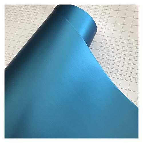 Just like 10/20 / 30/40 / 50x152cm Adhesivo Mate Negro Satinado Metálico Viny Film Coche Lámina Vehículo Etiqueta engomada de Coche Envolver Air (Color Name : Light Blue, Size : 40cm x 152cm)