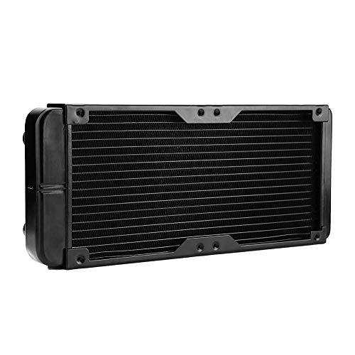 18 Pipe Aluminum PC Water Cooling Radiator 240mm for CPU LED Heatsink (Supports 2 x 120mm Fans)