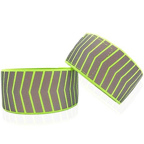 Pulseras reflectantes, pulseras de tobillo/cadenas/cadenas, 2 pulseras reflectantes, equipo de seguridad para correr, andar en bicicleta, perros o actividades nocturnas