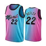 XMYM 2021 Miami Camisetas De Baloncesto para Hombres, 22# Butler 13# Adebayo 14# Herro 3# Wade Sports Fitness Clothing, Camiseta De Malla Transpirable De Secado Rápid 22#-XL