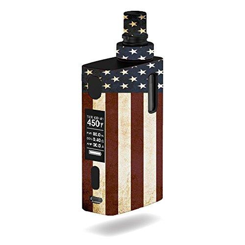 Decal Sticker Skin WRAP American Flag Grunge Vintage for Joyetech eGrip 2 II