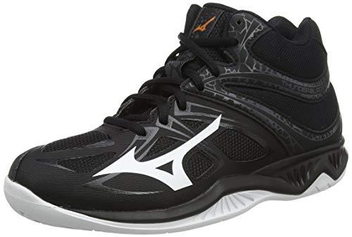 Mizuno Thunder Blade 2 Mid, Volleyball Shoe Uomo, Black/White/Ebony, 44 EU