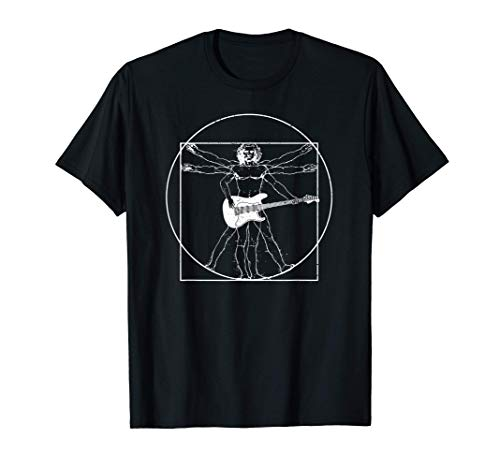 Electric guitar musician gift: Da Vinci drawing T-Shirt