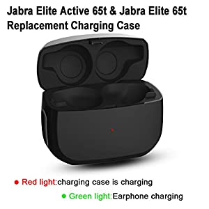 Aukvite Compatible with Jabra Elite 65t and Jabra Elite Active 65t Charging Case Replacement, Jabra Charger Case Replacement, 65t Earbuds Protective Substitute Cover (Elite 65t Charger Case Only)