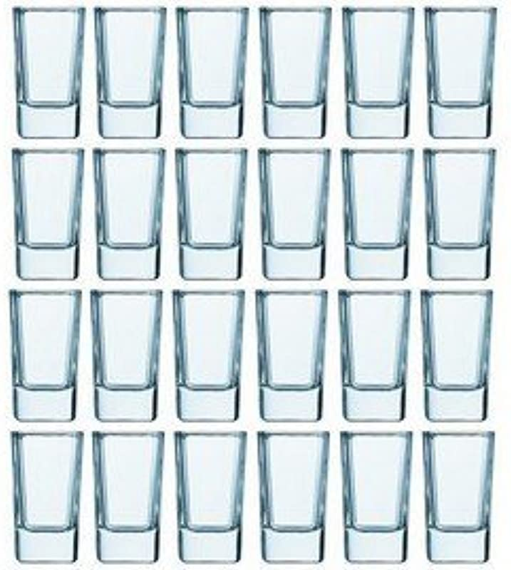 Luminarc 2 75 Ounce Tall Square Shot Glasses 24 Pack