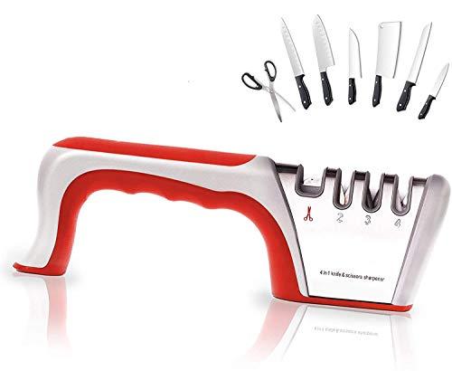 Self Ideas - Afilador de Cuchillos Manual. Afilador Profesional con 4 Funciones....