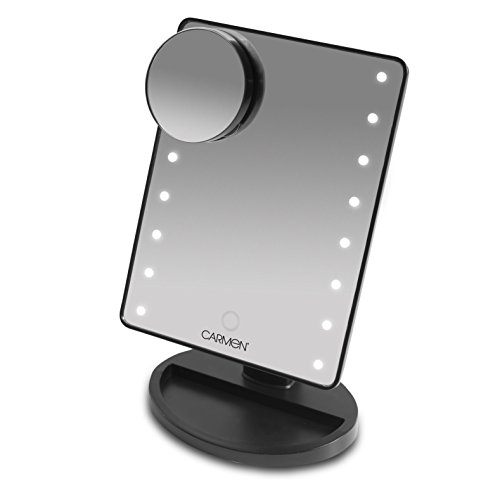 Carmen C85020 LED Illuminated Mirror with Smart Touch Screen - Black by Carmen