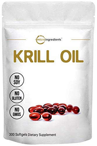 Antarctic Krill Oil Supplement, 1000mg Per Serving (Double Strength), 300 Soft-Gels, Rich in Omega-3s EPA, DHA  Massachusetts