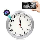 GEQWE Reloj De Pared con Cámara Espía, 1080P HD WiFi Cámara Oculta Reloj De Pared Cámara De Niñera con Alarma De...