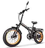 SOHOO 48V500W12AH 20' x4.0 Adult Folding Fat Tire Snow E-Bike Mountain Electric Bicycle Beach Cruiser Foldable Bike