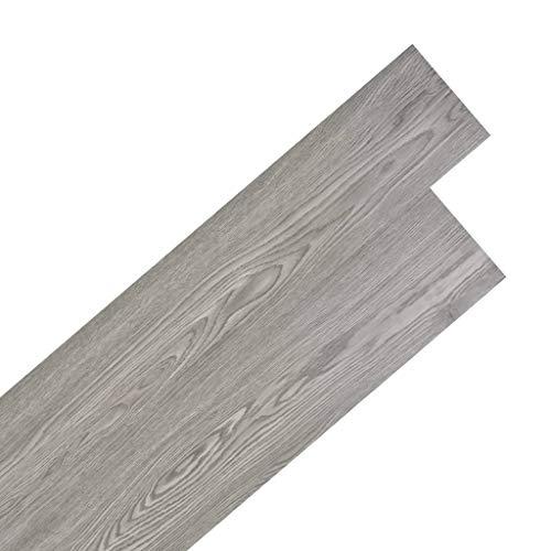vidaXL PVC Laminat Dielen 5,02m² 2mm Selbstklebend Dunkelgrau Vinyl Bodenbelag