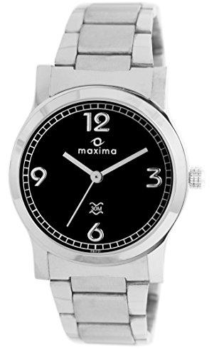 Maxima Attivo Analog Black Dial Women's Watch - 28021CMLI