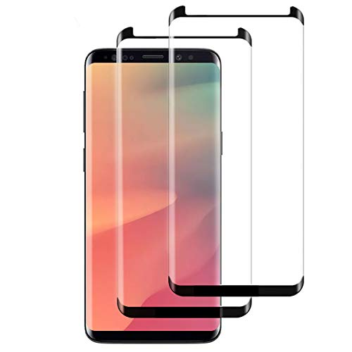 [2 Stück] Panzerglas für Samsung Galaxy S8, HD Panzerglasfolie für Samsung S8, Volle Abdeckung, Anti-Scratch, Anti-Fingerabdruck, Fallfreundlich Displayschutzfolie