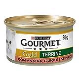 Purina Gourmet Gold Húmedo Gato Paté con Verduras con Pato, Zanahorias y Espinacas, 24 latas de 85 g Cada una de Ellas (24 x 85 g)
