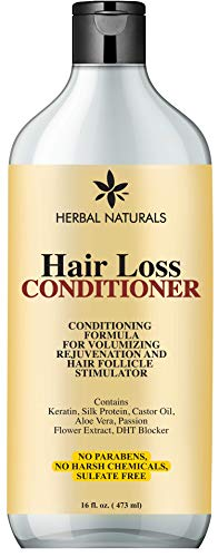 Herbal Naturals Hair Loss Conditioner Infused with Keratin, Natural Ingredients - Provides Hair Growth Stimulation, Hair Thickening, Nourishment and adds Volume, For All Hair Types Men and Women 16 fl Oz