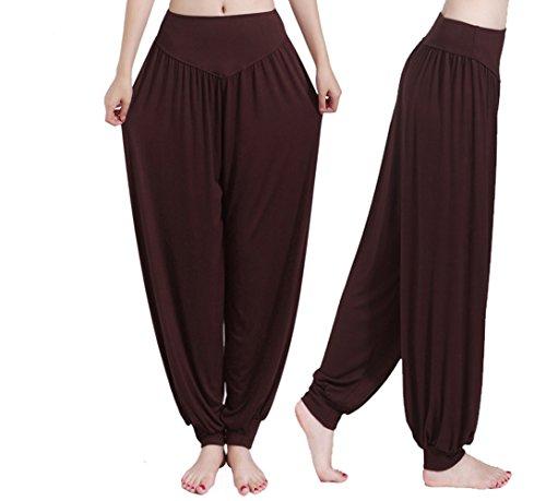 Hippolo, pantaloni da odalisca, calzoni alla zuava, pantaloni a sbuffo da donna, comodi per lo yoga nero nero xl