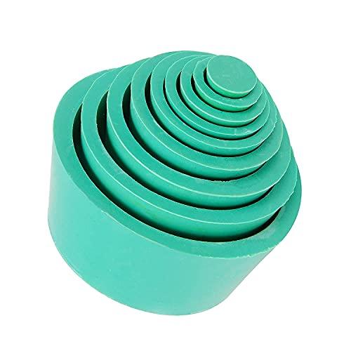 stonylab Filteradapterkegel, Premium & Langlebig Konischer Kragen, Gummistopper Buchner Trichter Kegel Adapter Set, Verschleißfeste Glatte Oberfläche, Filter Adapter Cones, 9 Stück, Grün