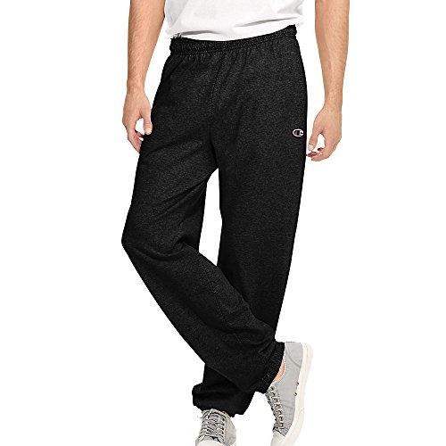 Price comparison product image Champion Authentic Men's Closed Bottom Jersey Pants, , Black, , XL, 2PK