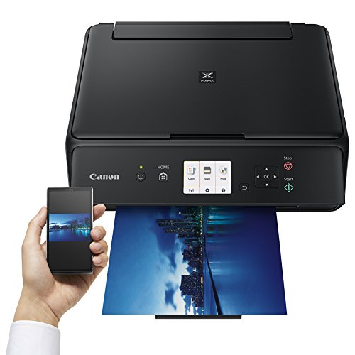 Canon PIXMA TS5050 Drucker Farbtintenstrahl Multifunktionsgerät DIN A4 (Scanner, Kopierer, Fotodruck, 4.800 x 1.200 dpi, WLAN, 5 separate Tinten, Apple AirPrint, Print App), schwarz