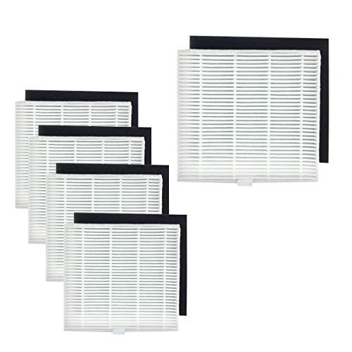 N/A Youriaa-Lot de 5 filtres HEPA pour AMIBOT Animal XL H2O (avec filtre en mousse noir)