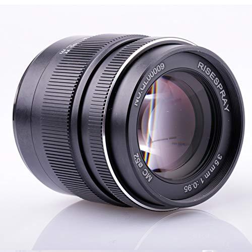 RISESPRAY - Objetivo estándar Mark III de gran apertura para cámara sin espejo (montura Canon EF-M) de 35 mm f/0,95 mm