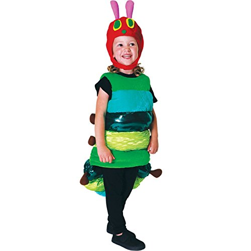 amscan- Child Costume Set with Caterpillar Design, Years-1 Pc. Juego de Disfraz de Tabardo Infantil con diseo de Oruga, 6-8 aos, 1 Unidad, Color Verde, Medium (9902976)