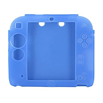 OSTENT Soft Silicone Full Protection Gel Pouch Case Cover Compatible for Nintendo 2DS Console - Color Blue