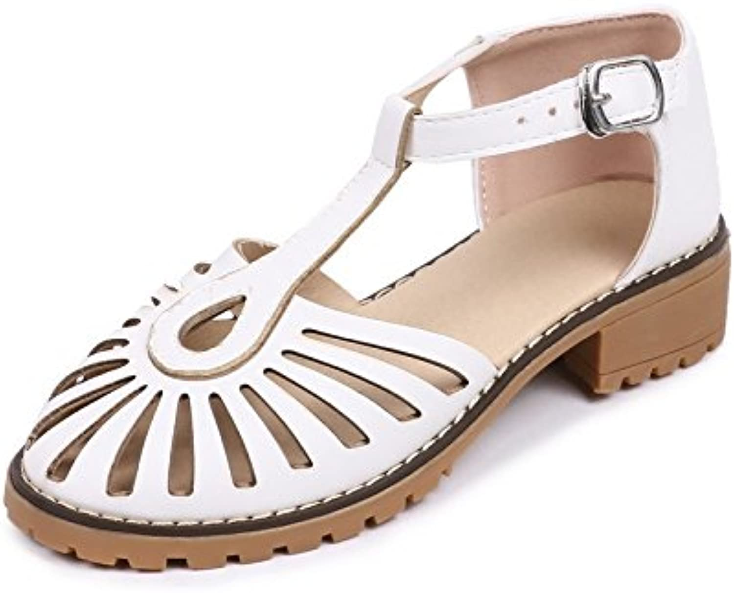Women's Summer Large Size Sandals Increase shoes T-Shaped Toe Ankle High Heels Breathable Casual shoes 34-43