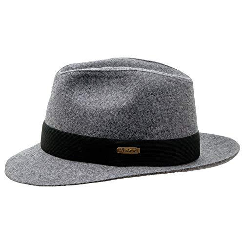 Sterkow Ski coton cousue Fedora Chapeau Corleone Vintage Chapeau Homme - Noir - S